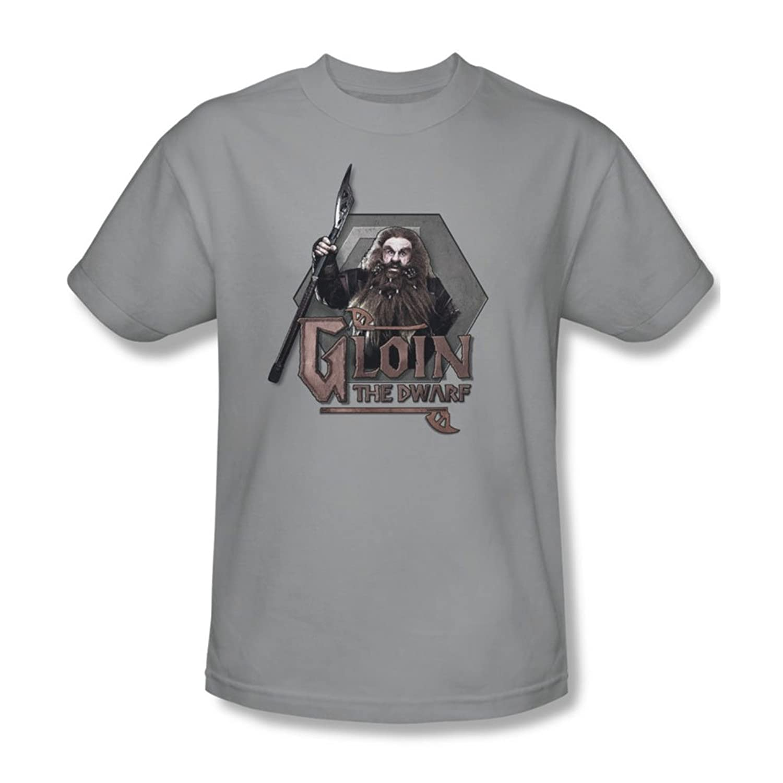 The Hobbit - Mens Gloin T-Shirt In Silver
