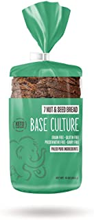 product image for Base Culture Keto Bread | Seven Nut & Seed, 100% Paleo, Gluten Free, Grain Free, Non-GMO, Dairy Free, Soy Free and Kosher | 16oz Loaf