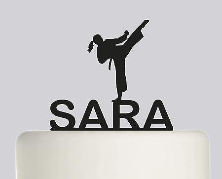 Decoración para tarta de boda, cumpleaños, taekwondo, karate ...