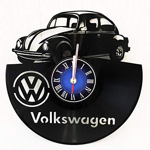 Volkswagen Wall Clock Made from 12 inches / 30 cm Vintage Vinyl Record | Volkswagen Gift for Men Boys Husband | Sport Clock | Volkswagen Merchandise