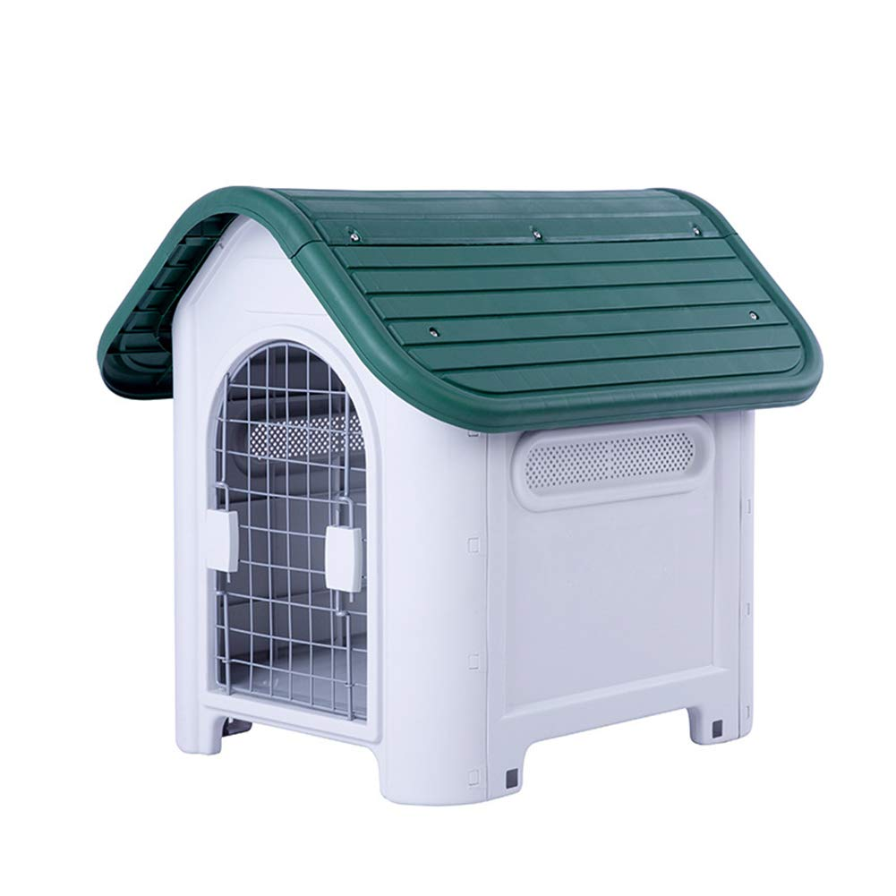 Green Dog House Cat Litter Dog Cage,Safety Lock Configuration Indoor Outdoor Dog,Kennel,Warm Windproof Dog Kennel,Big Dog Small Dog,Dog Cat Cage,Feeding Kennel