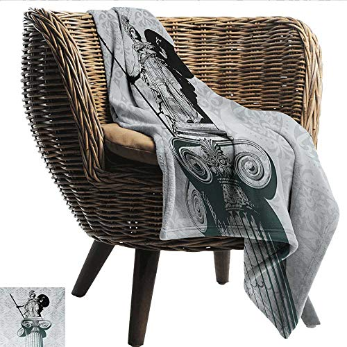 EwaskyOnline Sculptures Beds Blanket Statue of Athena on Baroque Background Ancient Greek Mythology Recliner Throw,Couch Throw, Couch wrap 91