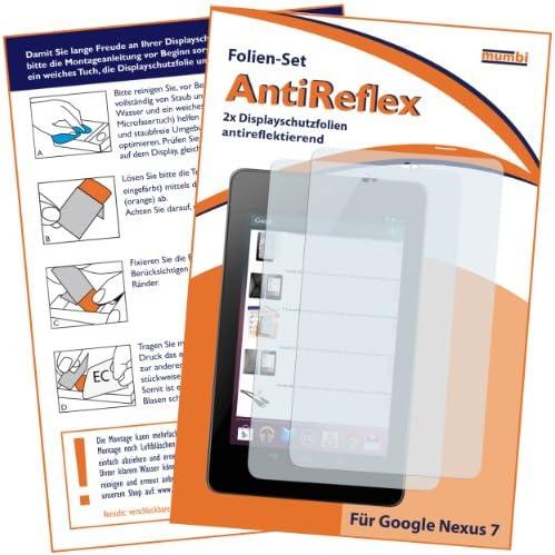 2 x mumbi Displayschutzfolie Google Nexus 7 Schutzfolie AntiReflex antireflektierend