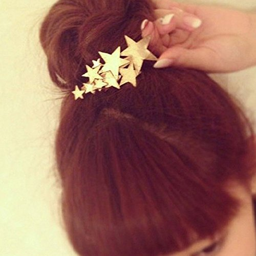 Vintage Star Flower (A&C Vintage Gold Color Star Hair Clips for Women, Fashion Flowers Headwear for Girl.)