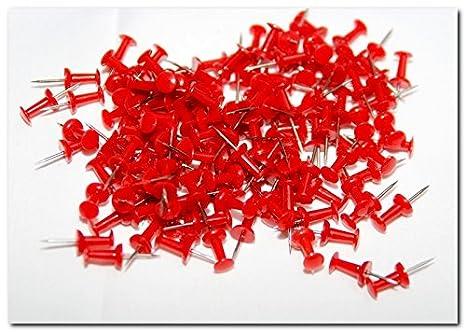 Puntine generiche con testa in plastica, bianco oro argento blu rosso verde nero. Confezione da 100 Black