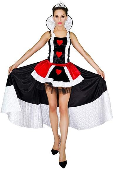 ZAOWEN Disfraz De Halloween Disfraces De Reina De Corazones para ...