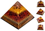 Premium Shungite Orgonite Pyramid - Orgone Generator & EMF Protection Orgone Pyramid with Healing and Energy Crystals - Violet Flame Orgone