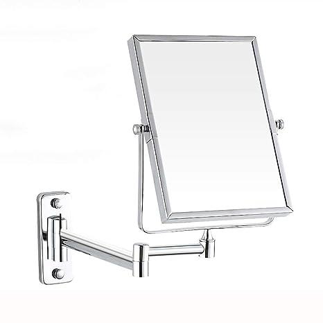 Amazon.com: Espejo de maquillaje plegable telescópico de ...