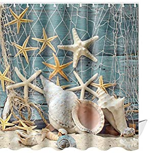 51j9v0vVq5L._SS300_ 200+ Beach Shower Curtains and Nautical Shower Curtains