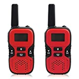 Kids Walkie Talkies Rechargeable ,Walky Talky 22 Channel FRS/GMRS 2 Way Radio 2 miles (up to 3.7 Miles) UHF Handheld One Pack