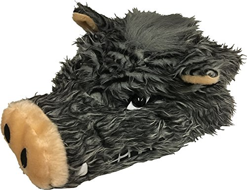 Wild Boar Pig Hog Grey Plush Fuzzy Fun Fur Hat Animal Costume Accessory Adult -