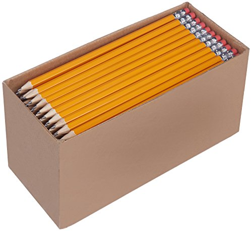 AmazonBasics Pre-sharpened Wood Cased #2 HB Pencils, 150 Pack]()