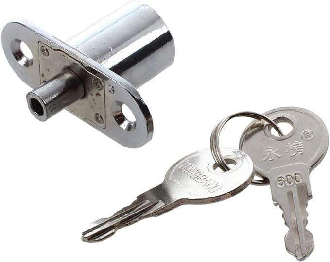 Cerradura del /émbolo del cilindro de la vitrina de la puerta con 2 llaves