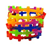 Multi Color Silicone Sideways Cross Stretchable Bracelet, Pack of 24, 8 Inch