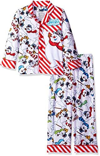 Snowman Flannel Pajamas - Frosty The Snowman Big Kids 'Frosty The Snowman Frosty Fun' Pajama Set, White, 6/7