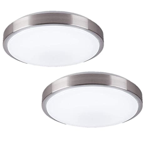 cheaper bfbba ed9c1 ZHMA 8-Inch LED Ceiling Light,Flush Mount Lighting,12W 880LM,4500K,Hallway  Light Fixtures Ceiling,Laundry,Closet Light(2-Pack)
