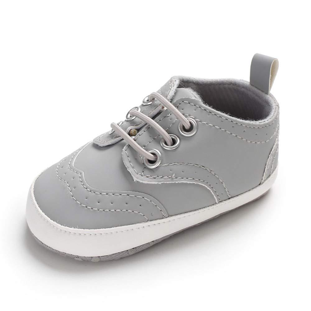 LACOFIA Chaussure Premier Pas b/éb/é gar/çon Baskets Souple /à Lacets pour b/éb/é Souple