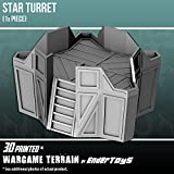 Star Turret, Terrain Scenery for Tabletop 28mm Miniatures Wargame, 3D Printed and Paintable, EnderToys