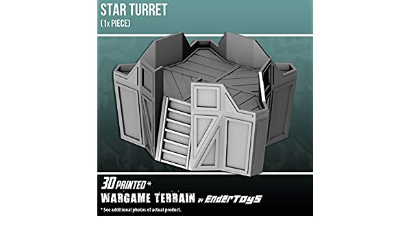 Star Turret, Terrain Scenery for Tabletop 28mm Miniatures Wargame