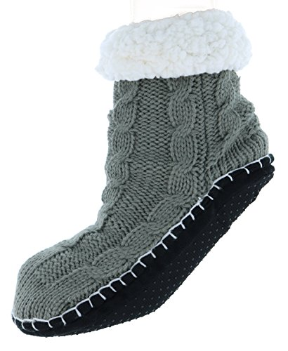Antonio Women's Plush Classic Cable Knit Slipper Socks for cheap
