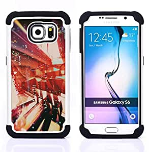 - architecture abstract vignette/ H??brido 3in1 Deluxe Impreso duro Soft Alto Impacto caja de la armadura Defender - SHIMIN CAO - For Samsung Galaxy S6 G9200