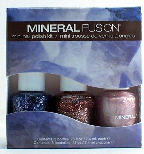 (Mineral Fusion Mini Nail Polish Kit, Shimmering Bling, 21 Gram by Mineral Fusion)