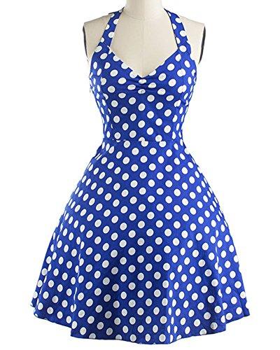 Cocktail Abito Donna Petticoat Zhuikun Da Punti Rockabilly Anni Vestito Vestiti Dots 50 Polka Blu Prom nYRRxPwZ