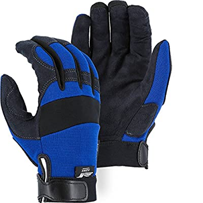 Majestic Glove Blue Synthetic Leather Mechanics Glove Armorskin 2137BL (1 Pair)