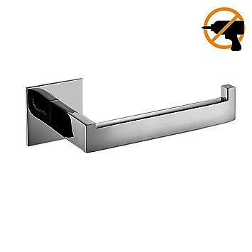 Lolypot Portarrollos de papel higiénico sin perforar, 304 Acero Inoxidable 3M Autoadhesivo Accesorios de baño
