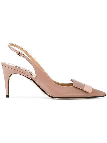 a2b4a03efedf44 Sergio Rossi Femme A80290MAGN055755 Rose Cuir Chaussures À Talons ...