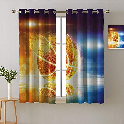 "Jinguizi Curtain Kitchen Window Grommets Fashion Darkening Curtains Party Darkening Curtains Noise Isolation Darkening Curtains Bedroom/Living (2 Pieces, 52"" Wide Per Panel)"