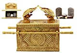 Ebros Matte Gold Holy Ark of The Covenant with Ten