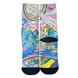 Rainbow Fantasy World Tube Socks Cool Street Socks Hip Hop Street Professional Skateboard Sports Men Women Socks Black