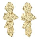 LILIE&WHITE Hammered Surface Geometric Boho Earrings Dangle Drop Earrings Jewelry For Girls