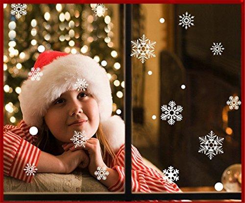 - Moonlight Studio ML White Christmas Snowflake Wall Sticker Outdoor Shopping Windows Decorations Peel and Sticker Christmas Stickers for Wall Decorations