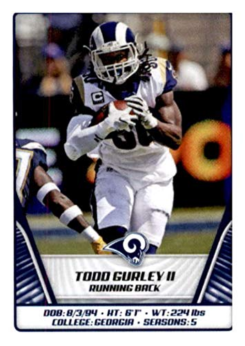 2019 Panini NFL Stickers Football #500 Todd Gurley II Los Angeles Rams Official Sticker Collection Collectible (paper thin and small size) from Panini NFL Sticker Collection Cards