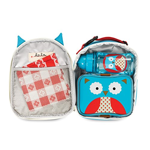 Skip Hop Baby Zoo Little Kid and Toddler Mealtime Lunch Kit Feeding Set, Multi, Otis Owl