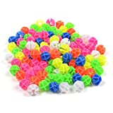Kasmena 102pcs Assorted Colors Bike Bicycle Wheel Spokes Bead Plastic Clip Spoke Bead Derections