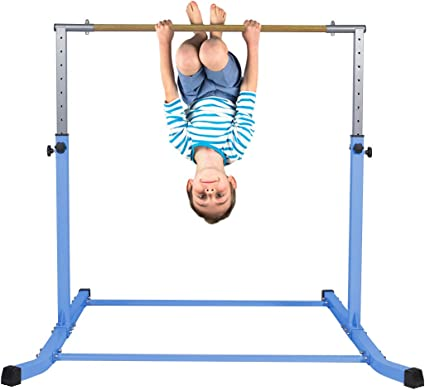 Kids Gymnastics Bar Horizontal Exercise Training Bars Expandable Gymnastic
