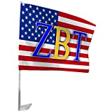 Express Design Group Zeta Beta Tau ZBT USA Car Flag