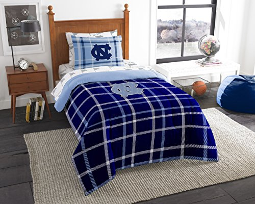 (Officially Licensed NCAA North Carolina Tar Heels Soft & Cozy 5-Piece Twin Size Bed in a Bag Set)