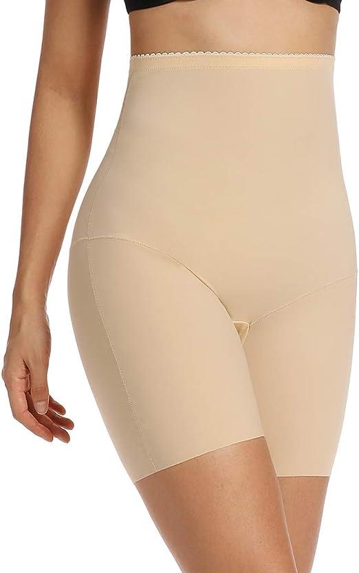 DODOING High Waist Seamless Tummy Control Panties Butt Lifter Shapewear Boyshorts Thigh Slimmer