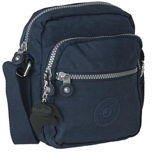 Bag Size Handbag Multi Crossbody Design Shoulder Small Fabric Pockets Shop Big Navy Lightweight Rainproof Zip 1 Messenger wUSnPWOqdn
