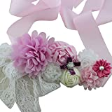 Maternity, Pregnancy Photography Baby Shower Flower Sash Belt (Pink)