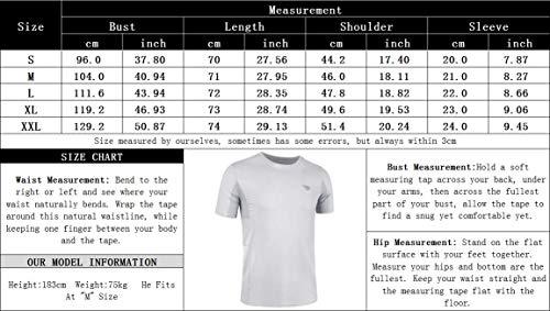 poriff Men's Quick Dry Rashguard Short Sleeve T-Shirt Portable UPF 50+ Swim Shirt Navy M