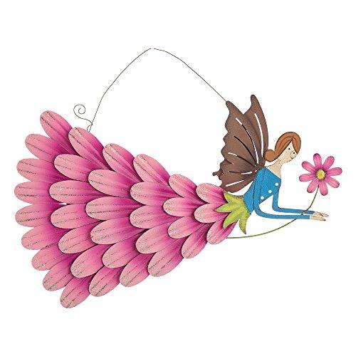 Glitzhome Garden Angel Iron Flying Fairy Wall (Fairy Angel Art)