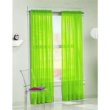 Green Curtains amazon green curtains : Amazon.com: 2 Piece Beautiful Sheer Window Green Elegance Curtains ...