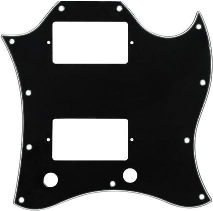 FLEOR 1 pieza arañazos Plate SG Full Face Guitarra Golpeador con ...