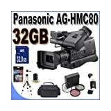 Panasonic AG-HMC80 3MOS AVCCAM HD Shoulder-Mount Camcorder with 32GB Accessory Kit