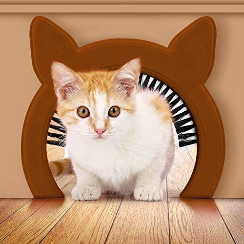 PAWSM Interior Cat Door, Pet Door for Cats, Cat Door Hides Litter Tray, Cat Door with Brush, Fits Cats Up to 20lbs from PAWSM